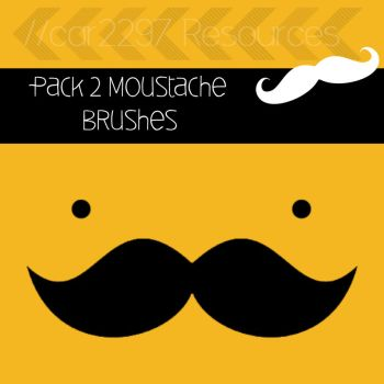 Pack 2 Moustache Brushes by car2297