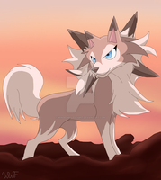 Pokemon~ Lycanroc by Wingedwolfflight