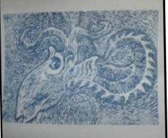 wood block print sideways by krypton619