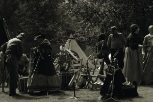 Confederate Camp and Musicians by KWilliamsPhoto