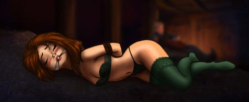 Anna in the hay (censored) by Ssssmudger