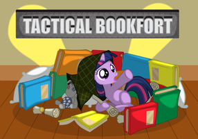 Tactical Bookfort by SpaceKingofSpace