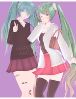 DL: Tda Happy 10th Birthday Miku Set by Jjinomu
