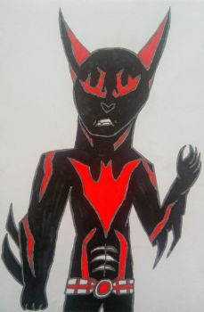 Angel Eyes as Batman Beyond by Opifexcontritio