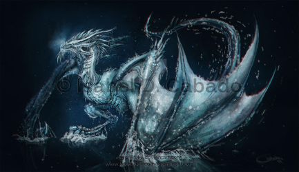 The ice dragon by Silver-Iruka