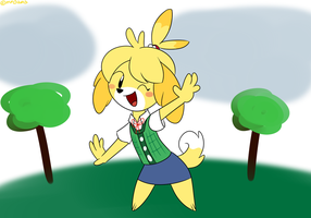 AC's Isabelle by MysteryFanBoy718