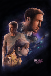 Blade Runner 2049 Illustrated 80s style Poster