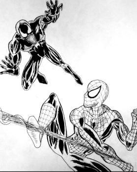 Spider-Man vs Venom by Blackheart73191