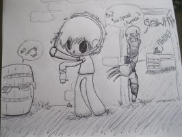 He's right behind you Pewdie! by Skyroxis