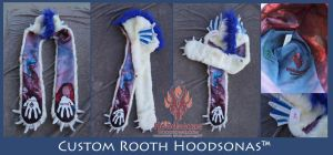 Custom Rooth Dragon Hoodsonas by The-SixthLeafClover