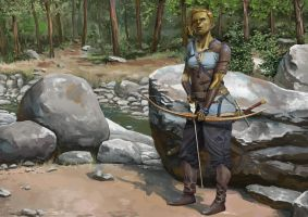 Ogre archer by the river by Toramarusama