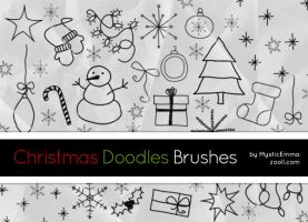 Christmas Doodles Brushes by MysticEmma