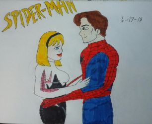Peter Parker x Gwen Stacy by JQroxks21