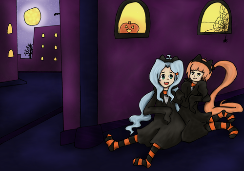 ~Black Cats of Halloween~ by Cherii-pipa
