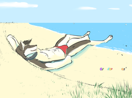 Relaxing at the beach by nh63879
