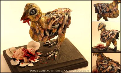 Zombie Chick by emilySculpts