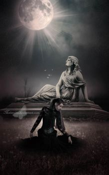 The Moon and The Statue by maiarcita