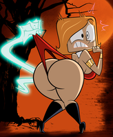 Halloween Commission:Debbie And The Haunted Wedgie by grimphantom