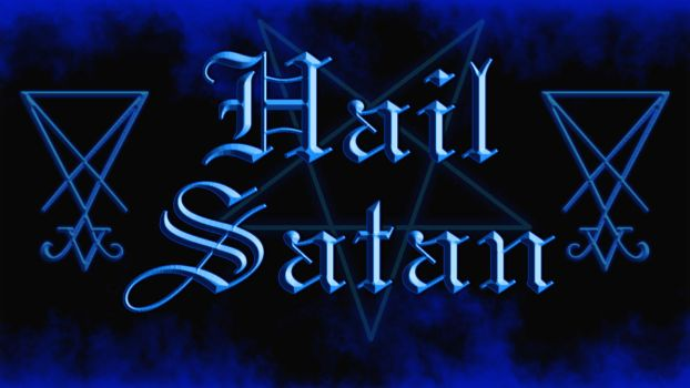 [Satanism] [Wallpaper] Hail Satan by Vovina-de-Micaloz
