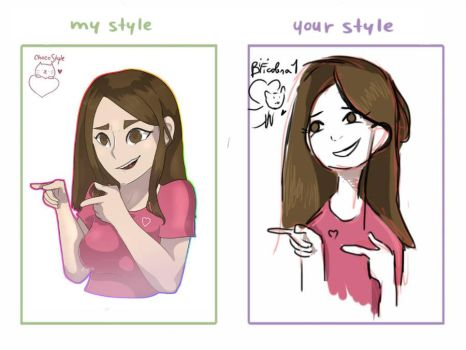 my style vs your style  by bificalera1
