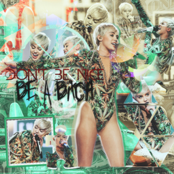 DontBeNiceBeABitch FT Miley Cyrus by StarlightDesings