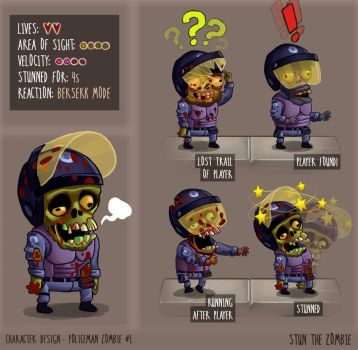 Stun The Zombie Policeman #1 characters by DaCas