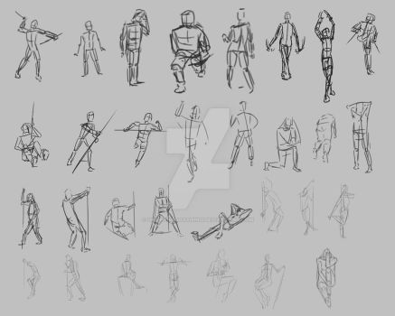 Gesture Drawing Practice 2 by optimismeBoo