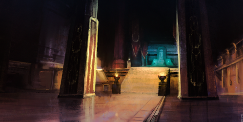 Across Middle-Earth - Thorin's Hall by ralphdamiani