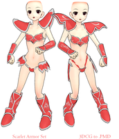 MMD- Scarlet Armor Set -DL by MMDFakewings18