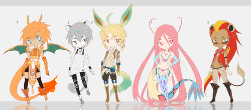 Pokemon Gijinka Adopt Auction OPEN CLOSED TY by Tiffany-Tees
