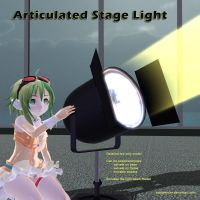MMD Articulated Stage Light Accessory by Trackdancer