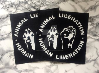 Animal Liberation Backpatch by MyInterminableZent