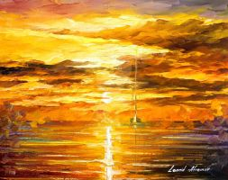 SUNSET OF FEELINGS by Leonid Afremov by Leonidafremov