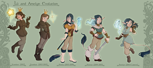 Lu and Amelyn Evolution by GreenVikeen