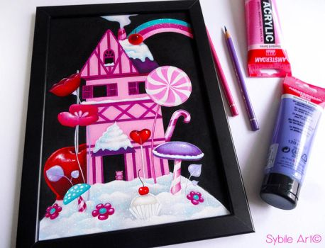 Candy house by SybileArt