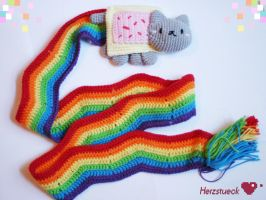 Nyancat-scarf by Herzstueck-Handmade