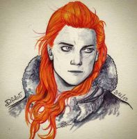 Ygritte - kissed by fire by Psamophis
