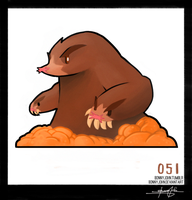 Dugtrio!  Pokemon One a Day!