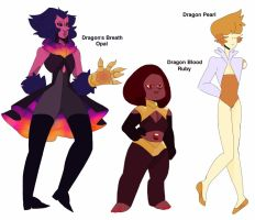 Dragon Gem Adopts by BlackStagBeetle