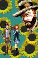 The Doctor, Amy and Van Gogh by aminamat