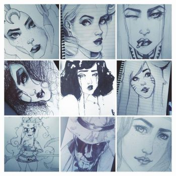 Bus Sketches :D by RaquelQuiros