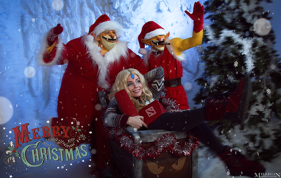 DotA 2 - Techies and CM - Merry Christmas by MilliganVick