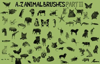 A-Z Animal Brushes PART 2 by kmh425