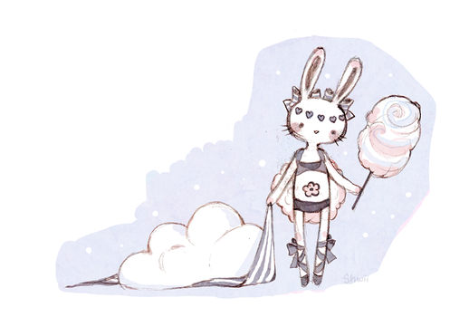 Cotton Candy and a Cloud by shwippie