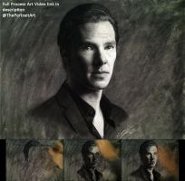 Drawing Benedict Cumberbatch / Sherlock Holmes by theportraitart