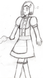 (DRAW) A Maid and Pose Practice by Thunderblade2001