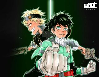 Deku and Asta by WhytManga