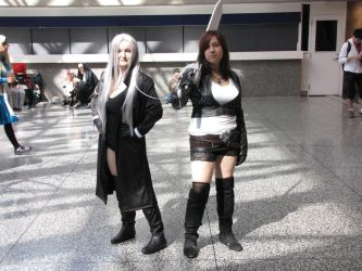Female Sephi and Squall by cyberfox007