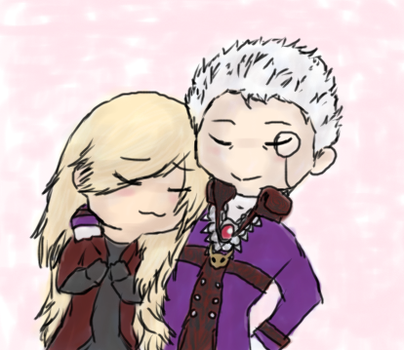 Sparda and Eva by The-Resident-Artist