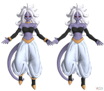 DBFZ - Android 21 (True Form - Cell Absorbed) by LorisCangini